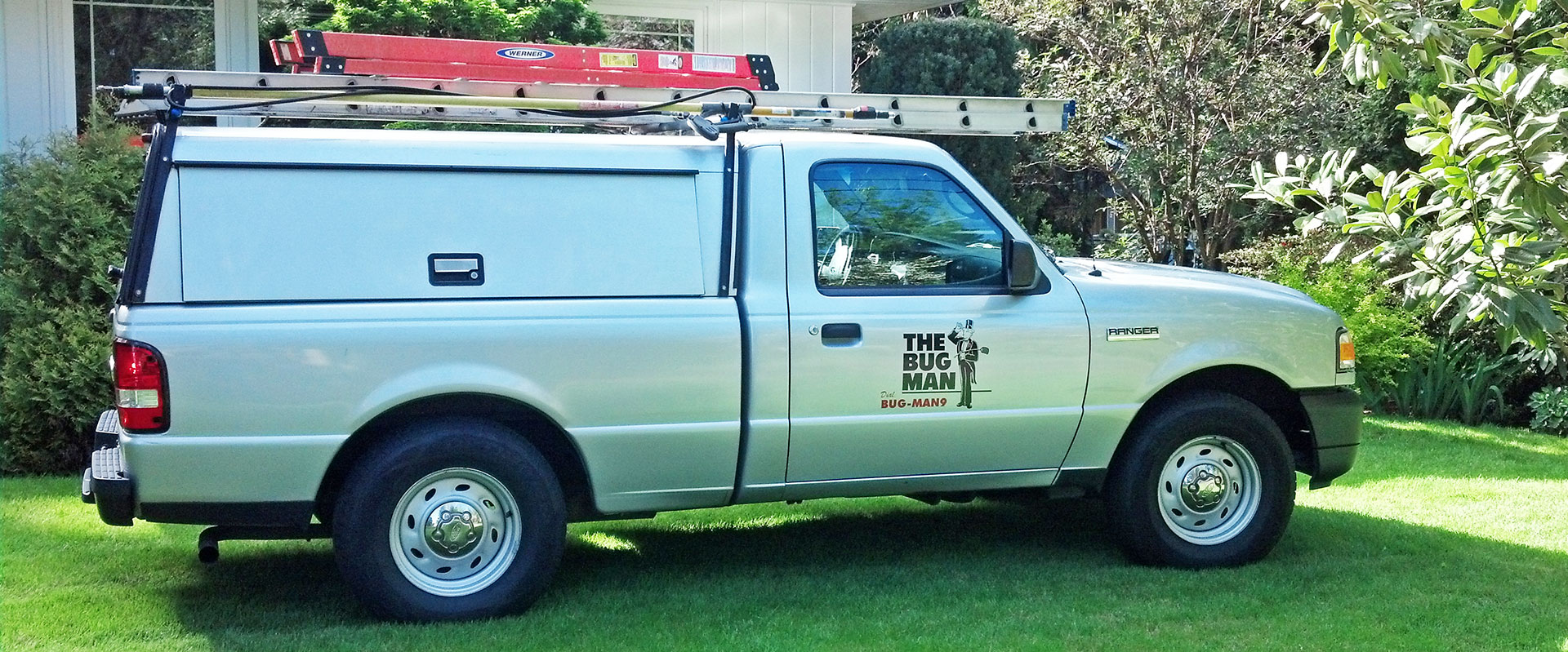 Photo of The Bug Man pest control truck